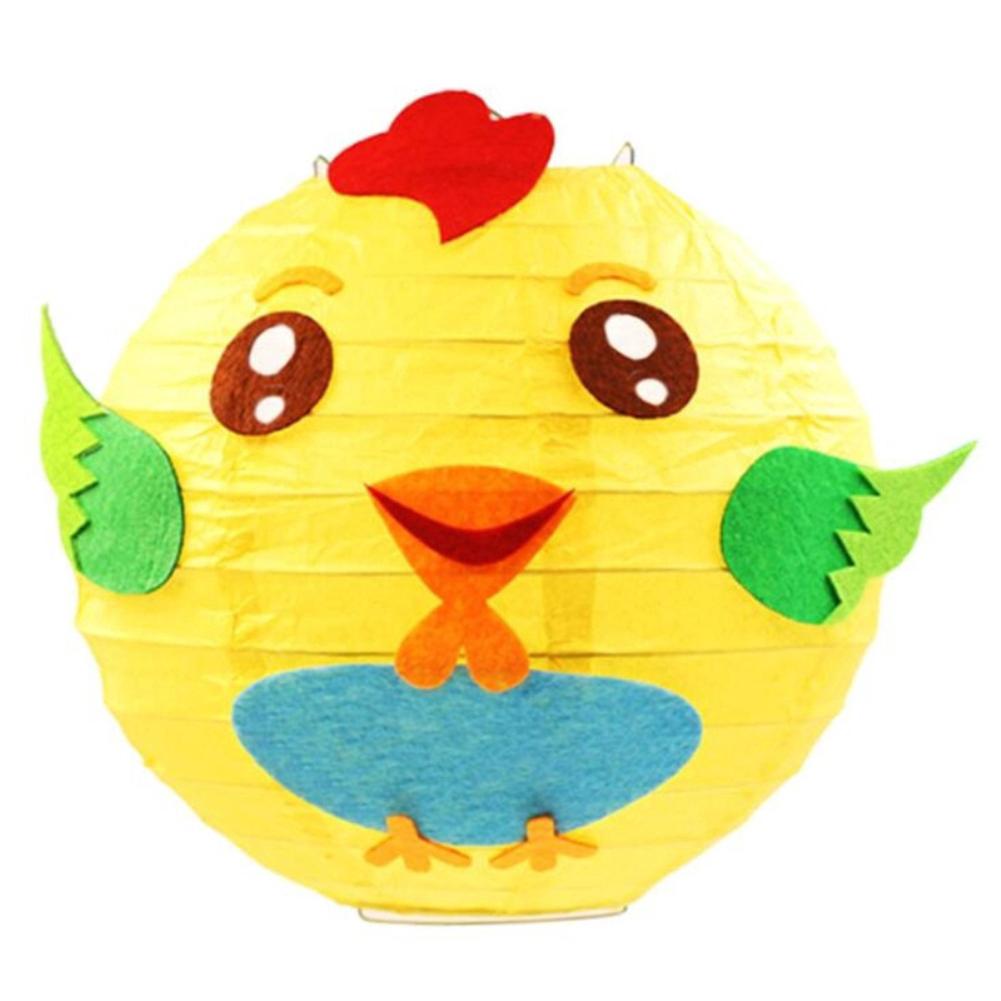 LED Cartoon Animals Paper Chinese Lantern DIY Handcrafts for Child Birthday Party Chicken