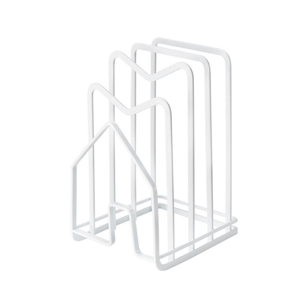 Multifunctional Cutting  Board  Rack Kitchen Tableware Holder Household Organizer white