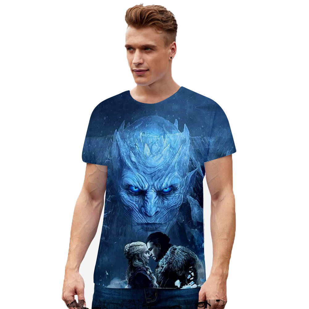 Summer Fashion Short Sleeve Game of Thrones 3D Digital Printing T-shirt for Men Women I style_XL