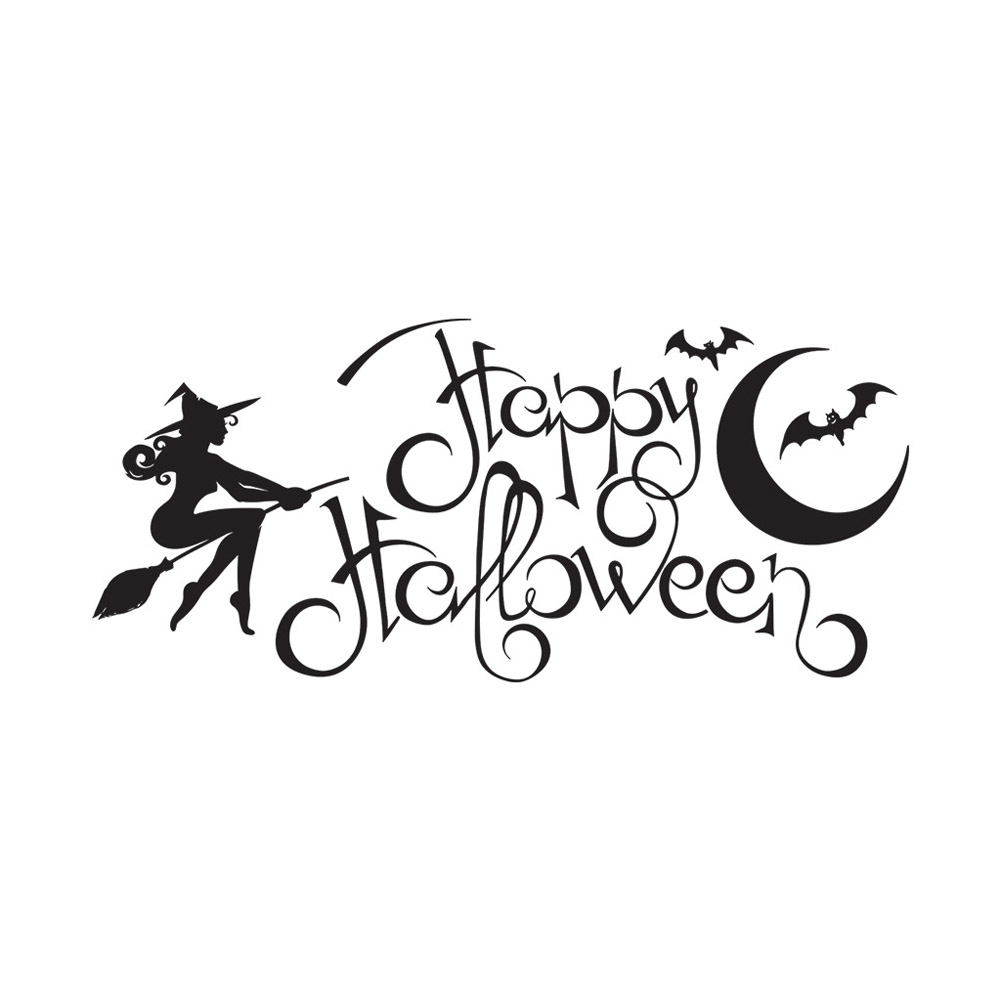 Halloween English Wall Sticker DIY Room Wall Decals Home Party Decor AFH2100