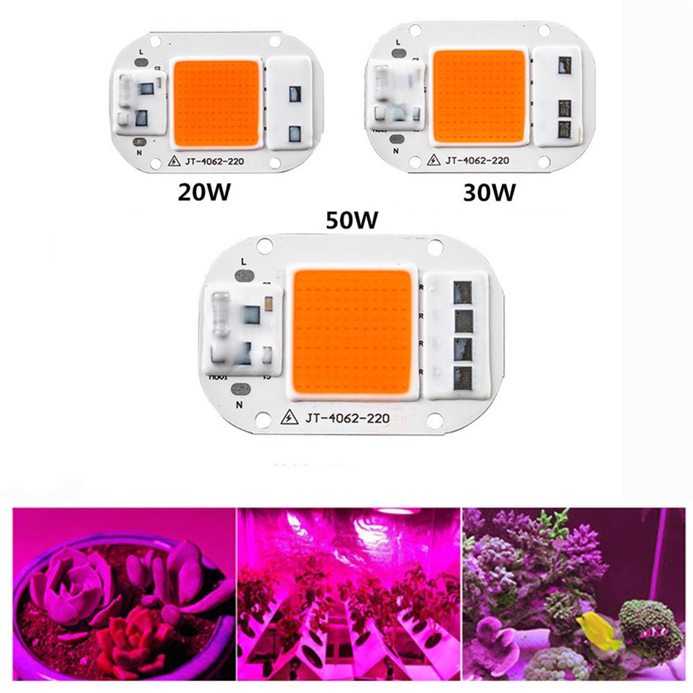 20W/30W/50W LED COB Full Spectrum Grow Light for Indoor Seedlings Wavelength 380-840nm 30W-220V