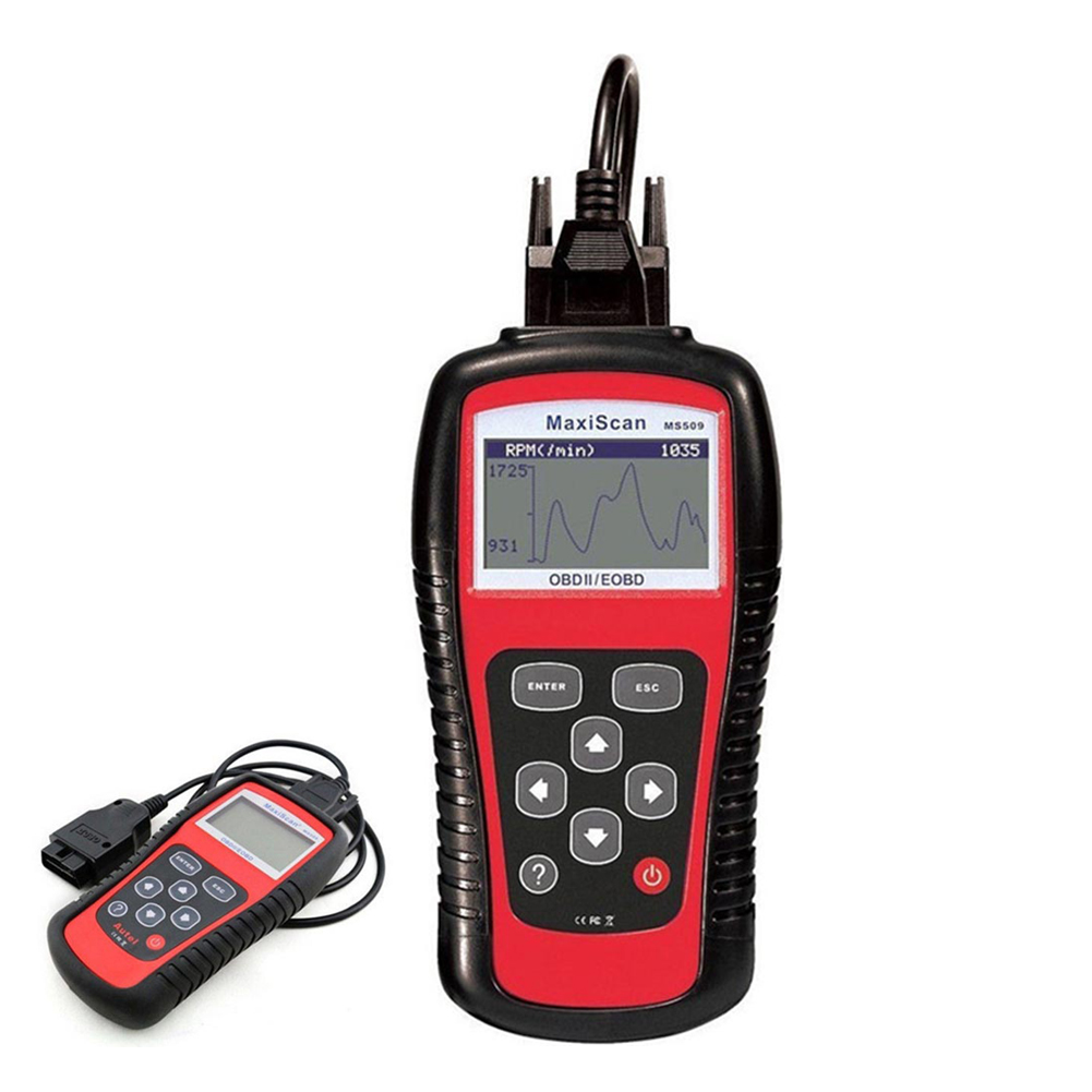 Automobile Diagnosing Instruments Code Reader Automobile Scanning Tool obd2 Real-time Data Red black