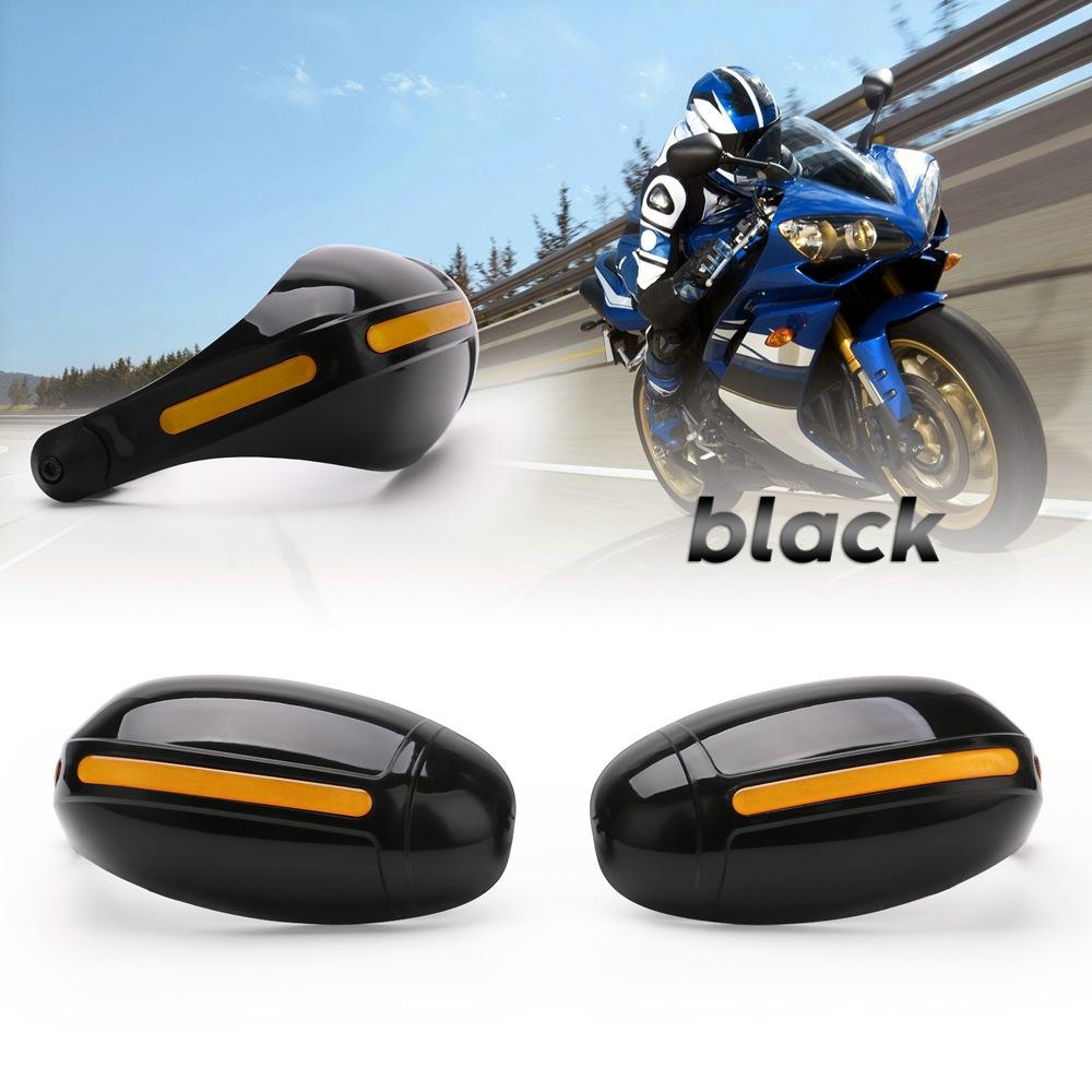 2pcs Motorcycle Hand Guards Dirt Bike Handguard Scooter Windscreen Driving Falling Hands Protection 22mm Handlebar Black