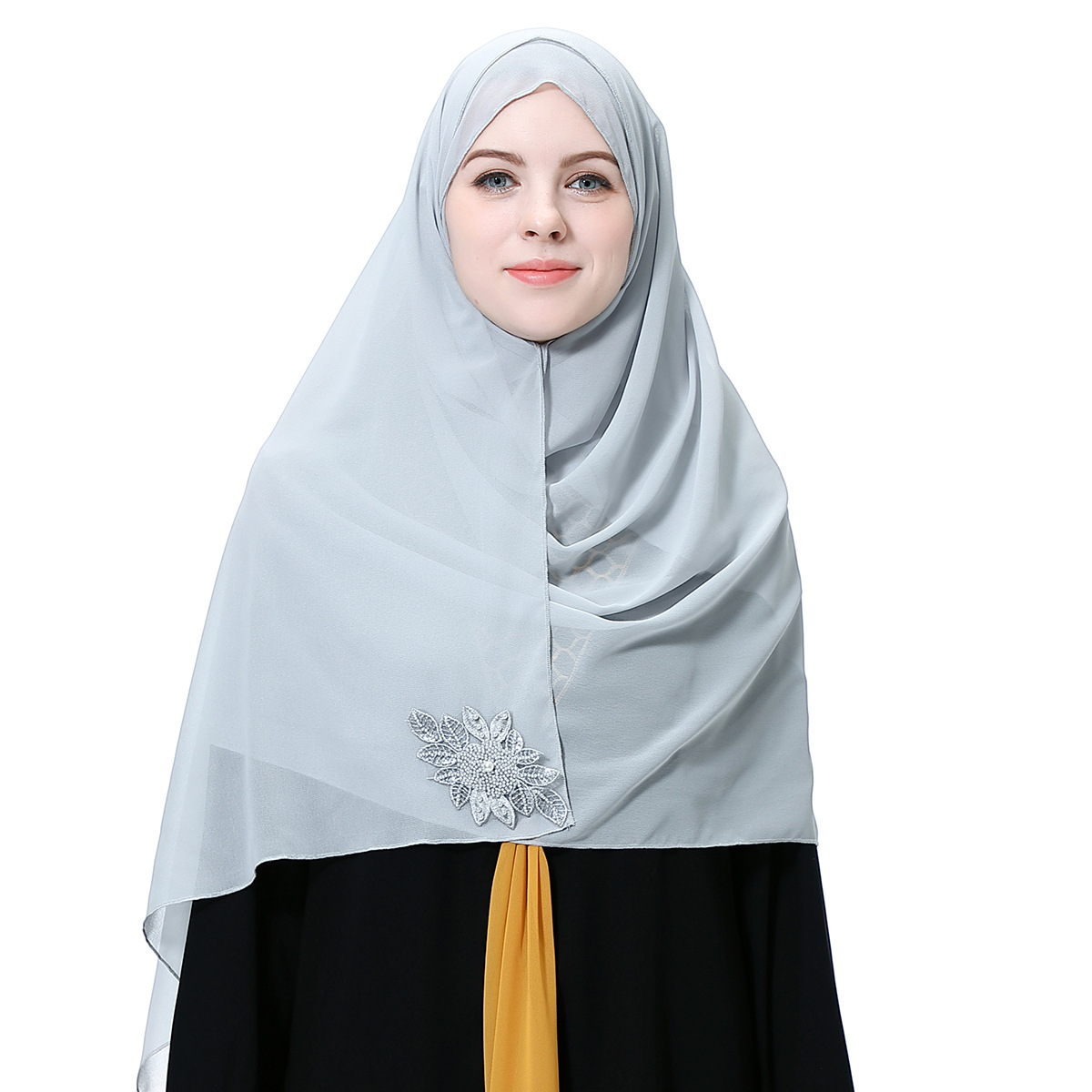 Women Breathable Chiffon Moslem Head Cover Cloth