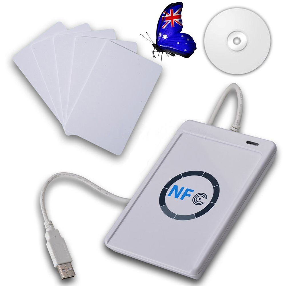 ACR122U RFID Contactless Smart Card Reader & Writer USB with Mifare IC Card M1 Senser Reader