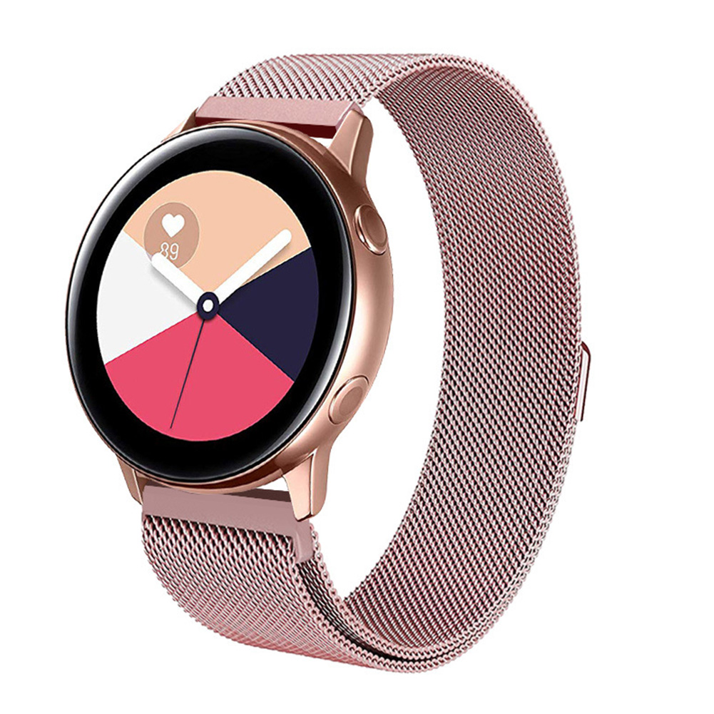 For Samsung Galaxy Watch Active 20mm Replacement Stainless Steel Watch Band Strap Rose gold