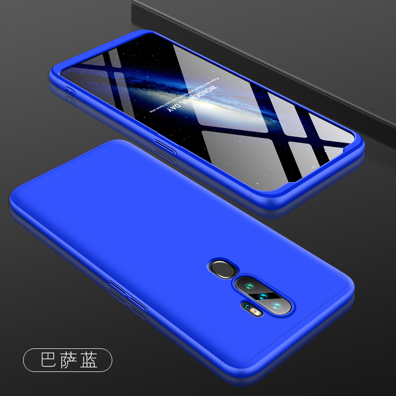 For OPPO A5 2020/A11X Cellphone Cover Hard PC Phone Case Bumper Protective Smartphone Shell blue