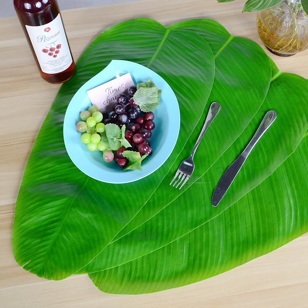 Hawaii Green Banana Leaf Shape Placemat Tabletop Wall Decoration