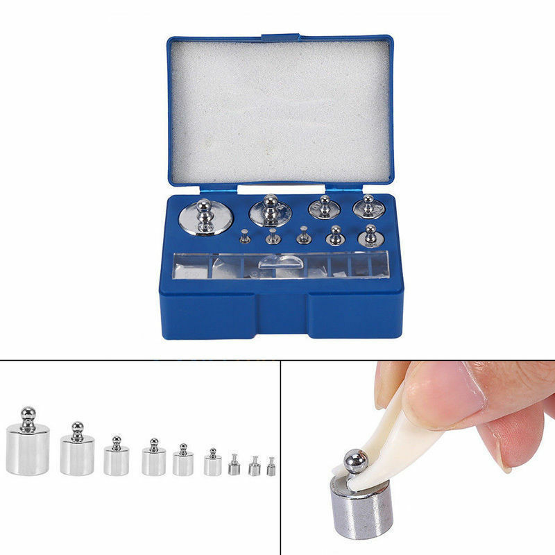 17Pcs Digital Scale Calibration Weight 10mg-100g Stainless Steel Jewelry Scale Calibration Weight Set Tweezer Weighting Tools(Box Packing) 17 weights / set