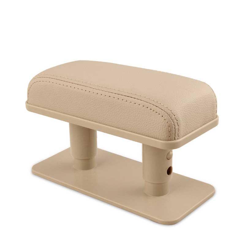 Car Armrest Cushion Anti-Fatigue Elbow Support Door Armrest Pad Protective Pad for Left Armrest Arm for Main Driver Position Beige