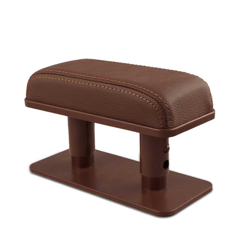 Car Armrest Cushion Anti-Fatigue Elbow Support Door Armrest Pad Protective Pad for Left Armrest Arm for Main Driver Position brown