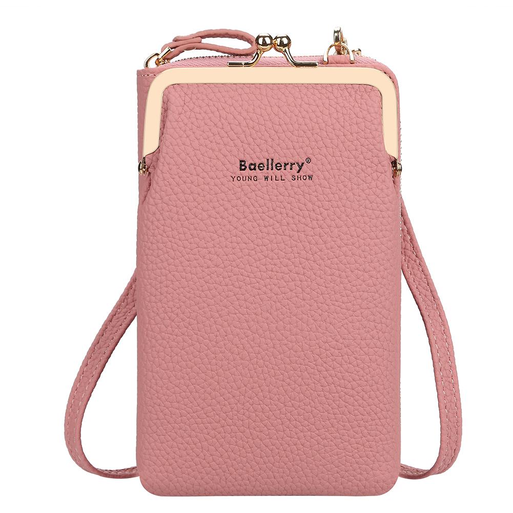Women Satchel Crossbody Bag Mini PU Leather Shoulder Messenger Bag for Girls Phone Purse Dark pink