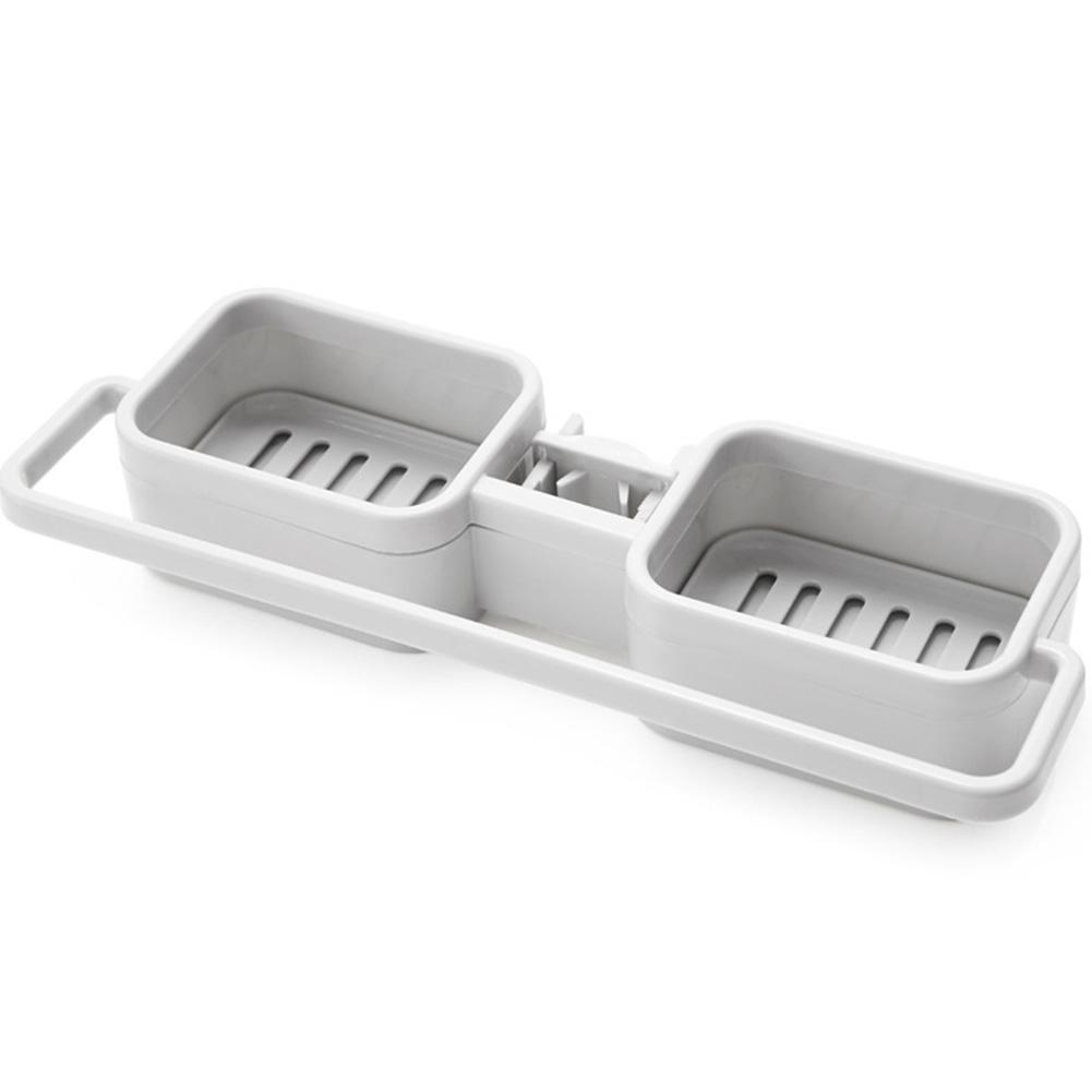 Sink Hanging Storage Rack  Bathroom Kitchen Faucet Clip Shelf Drain Dry Towel Organizer gray
