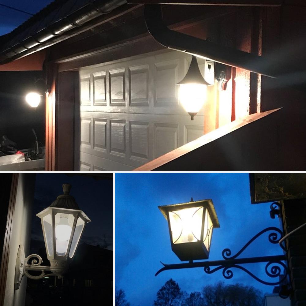 E26/E27 85-265V 8W LED Sensor Light Bulb Dusk to Dawn Auto On/Off Smart Bulb Base Security Lamp for Corridor Garden Garage Yard White light 5000K