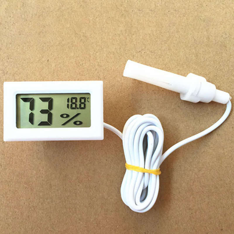 [Indonesia Direct] Mini Digital LCD Thermometer Hygrometer Humidity Temperature High Quality -50Celsius to 70Celsius 10% RH to 99% RH white
