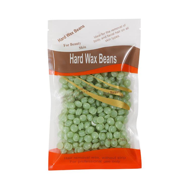 100g/pack Wax Beans Paper-free  Depilatory  Wax Pellet Removing Face Legs Arm Hair Removal Bean Green Tea/Aloe