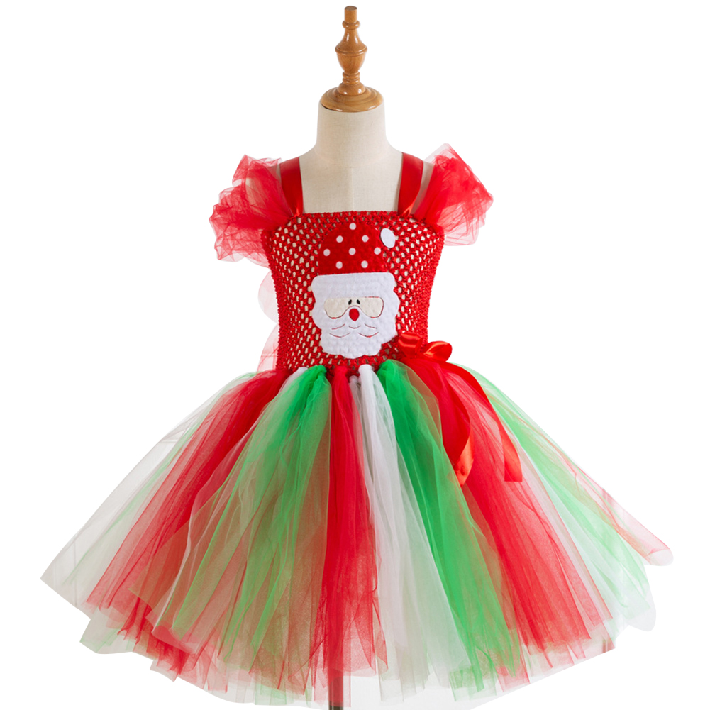 Girls Dress Christmas Cartoon Performance Dress for 4-12 Years Old Kids HD93363