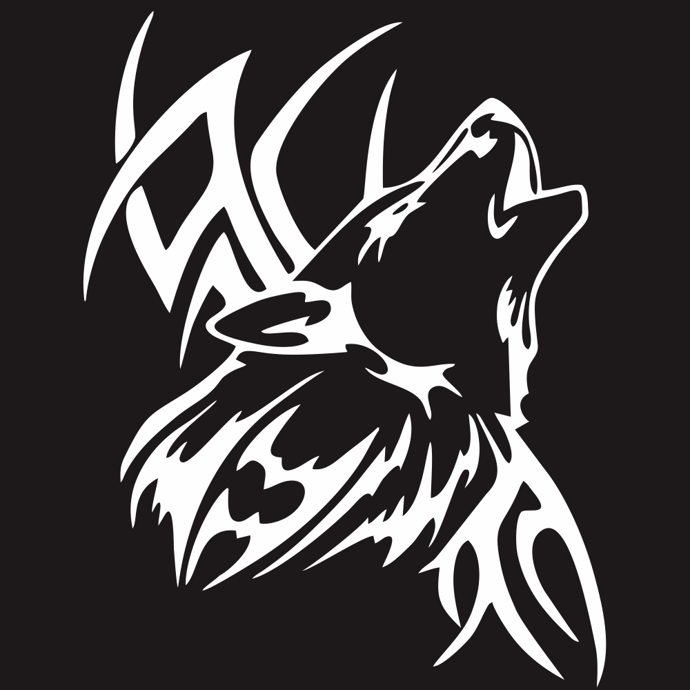 Tattoo Wolf Car Motorcycle Body Stickers Vinyl Car Styling Decal Accessories white