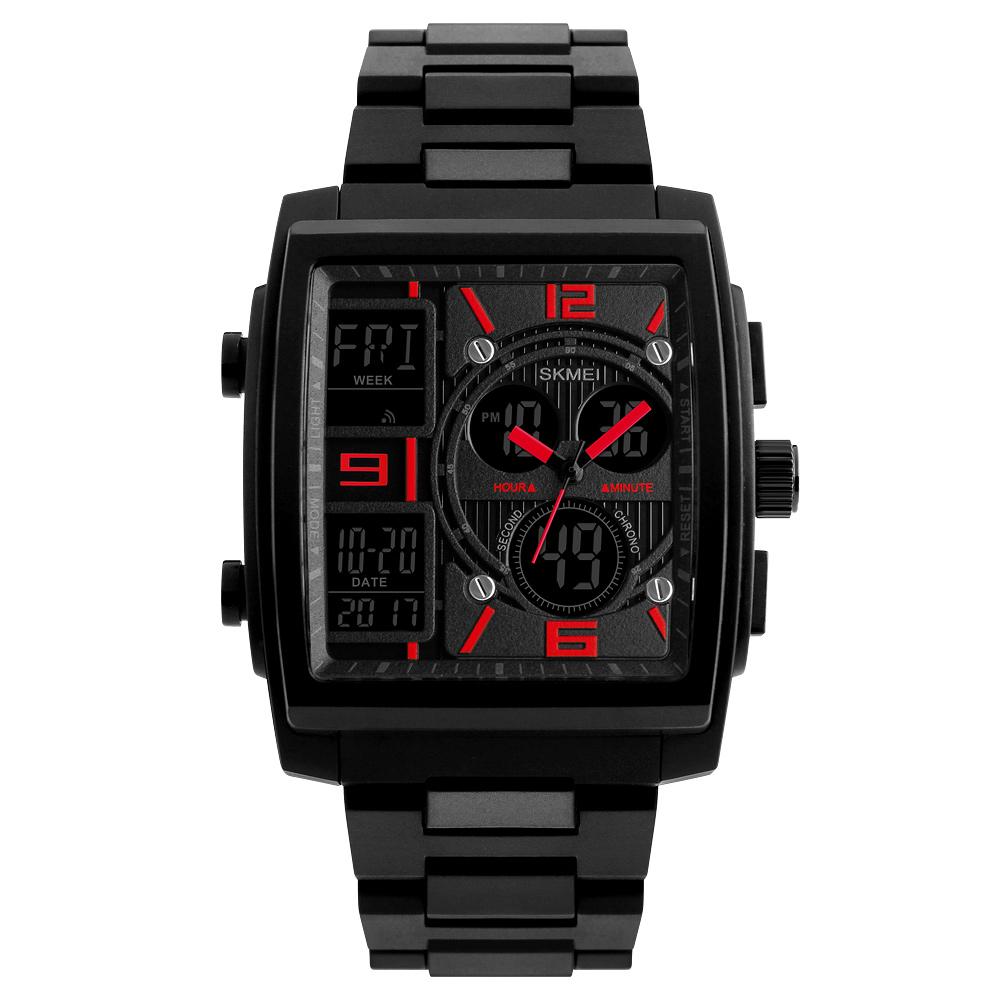 1274 Men's Wrist Watch Multi-function Outdoor Sports Digital Watch red