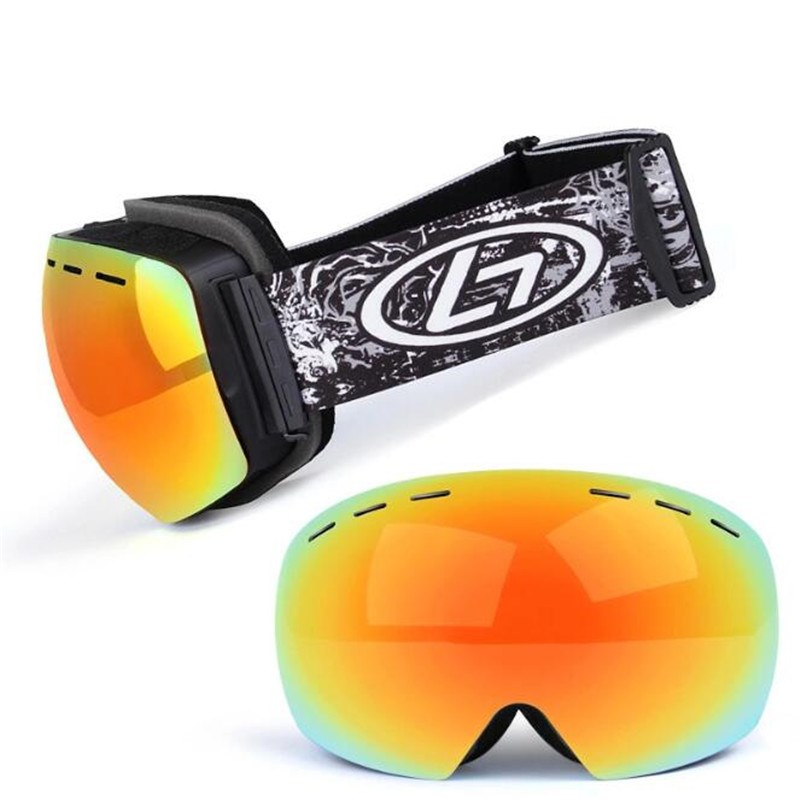 Unisex Winter Snow Sports Goggles with Anti-f