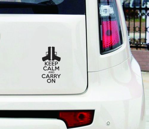 Car KEEP CALM AND CARRY ON Sticker Unique Reflective Warning Sticker