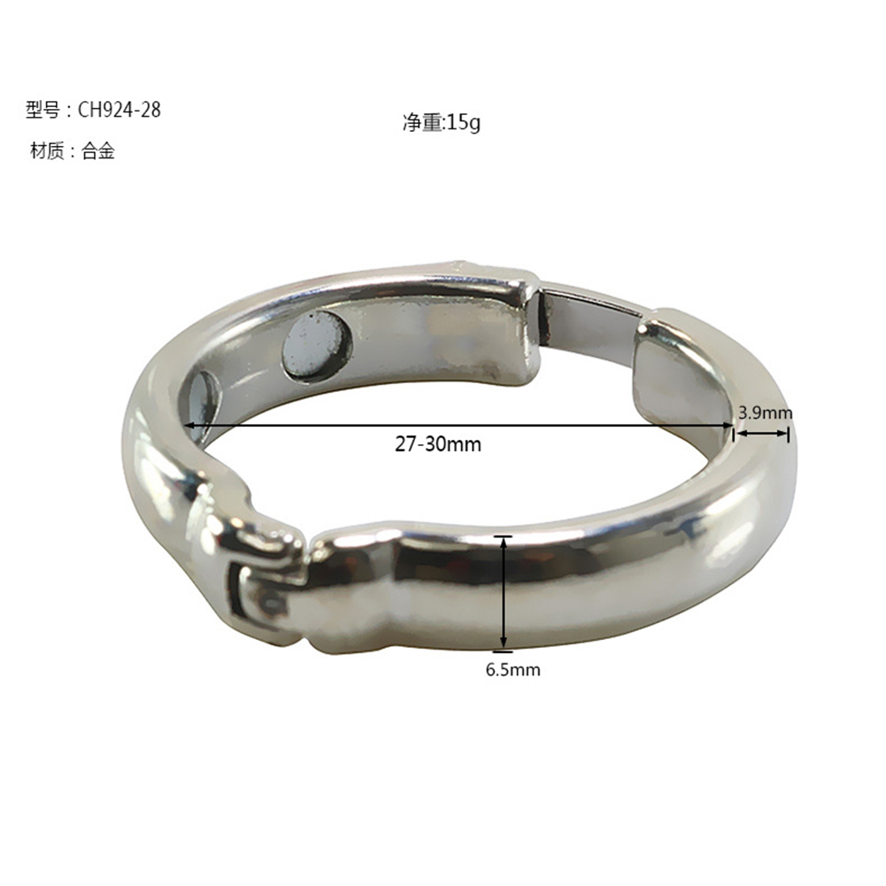 Stainless Steel Magnetic Therapy  Foreskin  Ring For Foreskin Prepuce Promote Blood Circulation 27-30mm