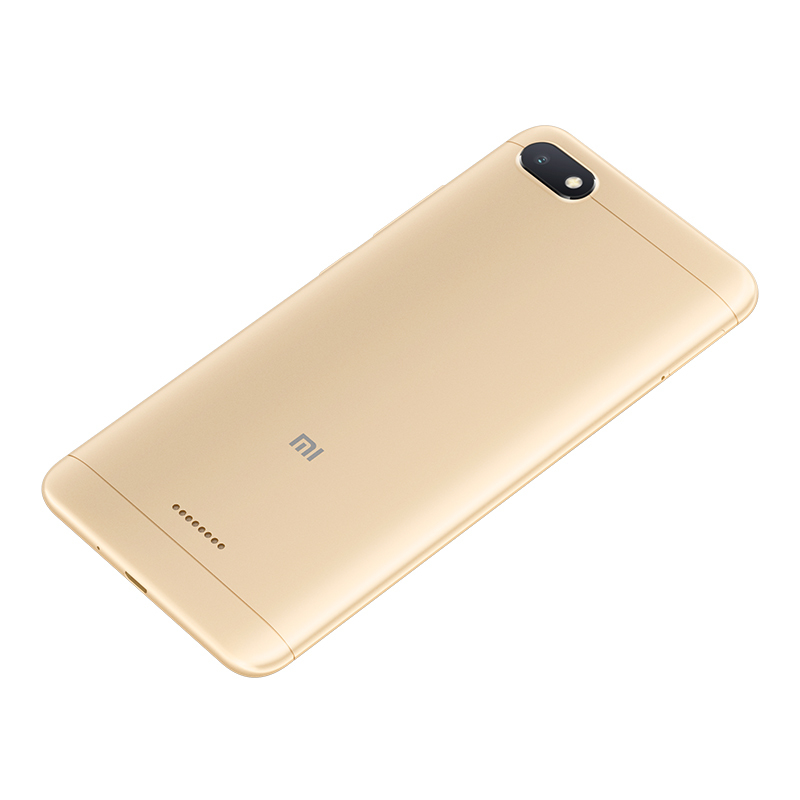 Xiaomi Redmi 6A Android Phone - 5.45 Inch Screen, Quad Core, Bluetooth, GPS, Dual SIM Card, TF Card Slot Up to 256GB,  4G (Gold)