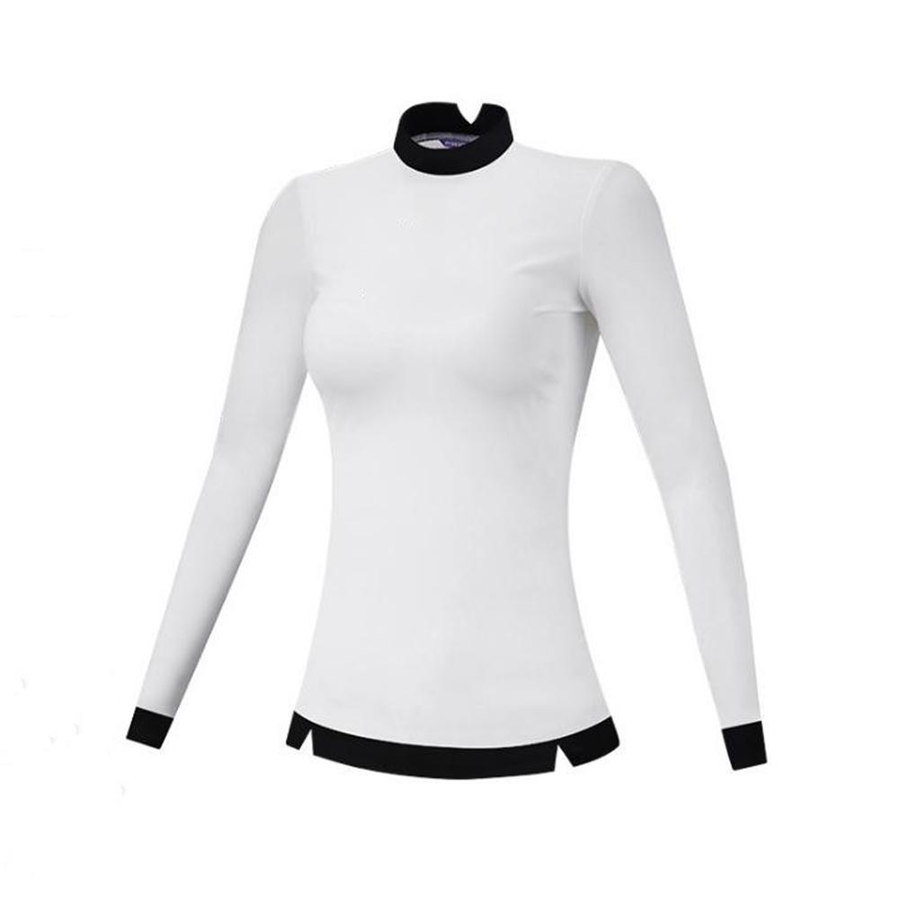Golf Clothes Female Autumn Winter Clothes Long Sleeve T-shirt Slim Golf Suit for Women white_M