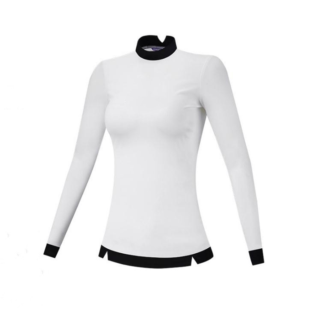Golf Clothes Female Autumn Winter Clothes Long Sleeve T-shirt Slim Golf Suit for Women white_XL
