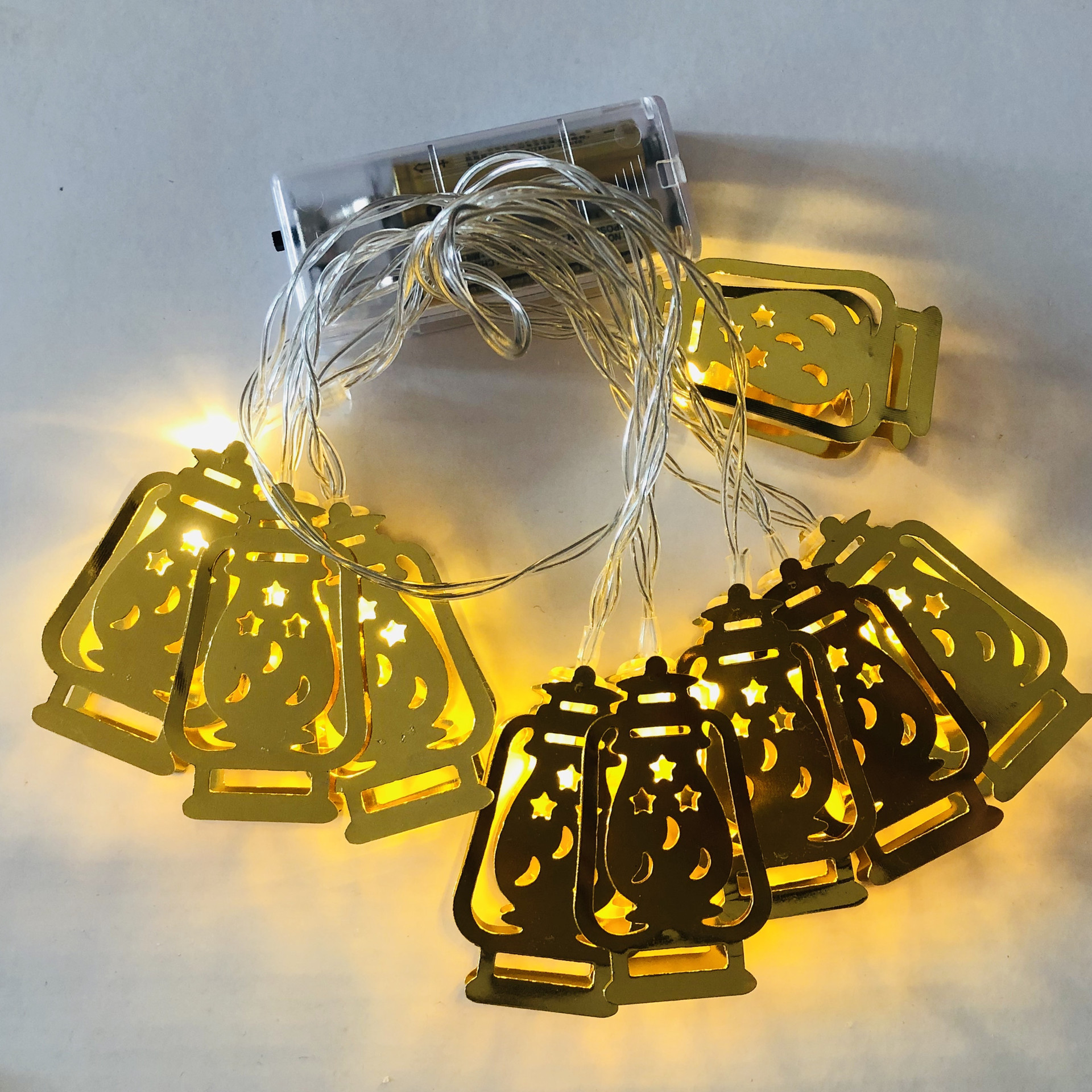 10-LEDs String Lights Muslim Ramadan Decorative Lamp for Festival Party Warm White