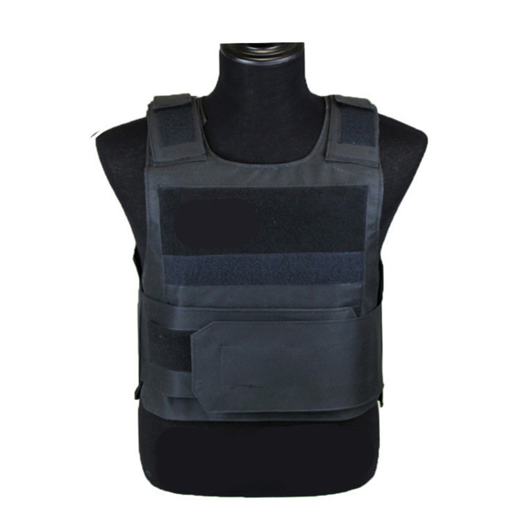 [EU Direct] Lightweight Armor Plate Tactical SWAT Vest Protective Clothes for Police  black_Free size