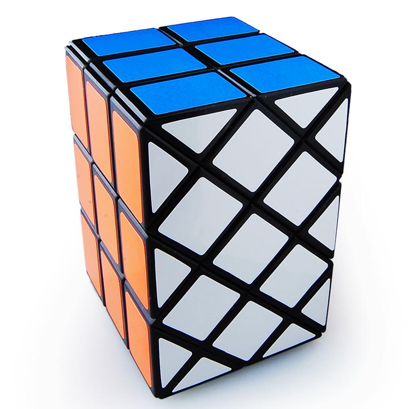[EU Direct] Dian Sheng 3x3 Ancient Double Fish Cube Black Magic Cube Odd Rubik,Black