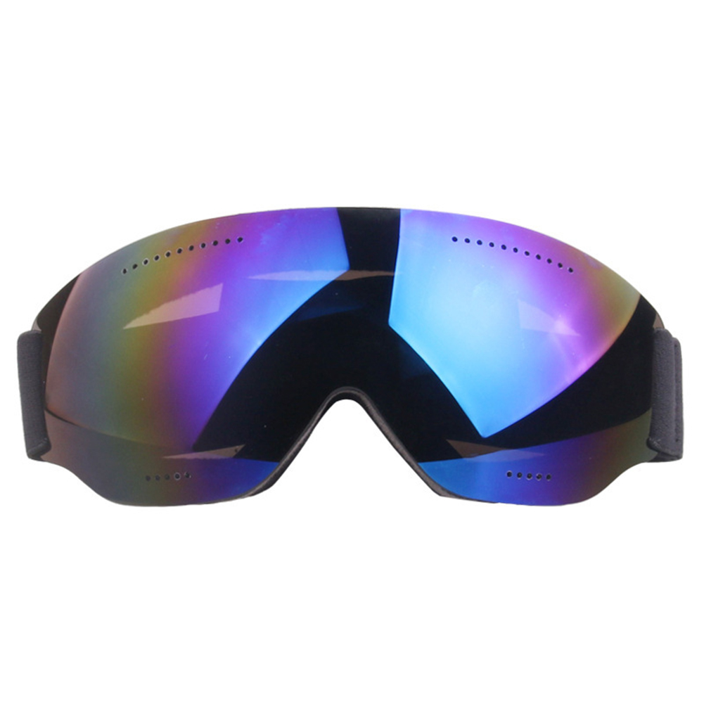 Single Layer Ski Goggles Short-sighted Snow Goggles Adult Windproof Ski Goggles blue