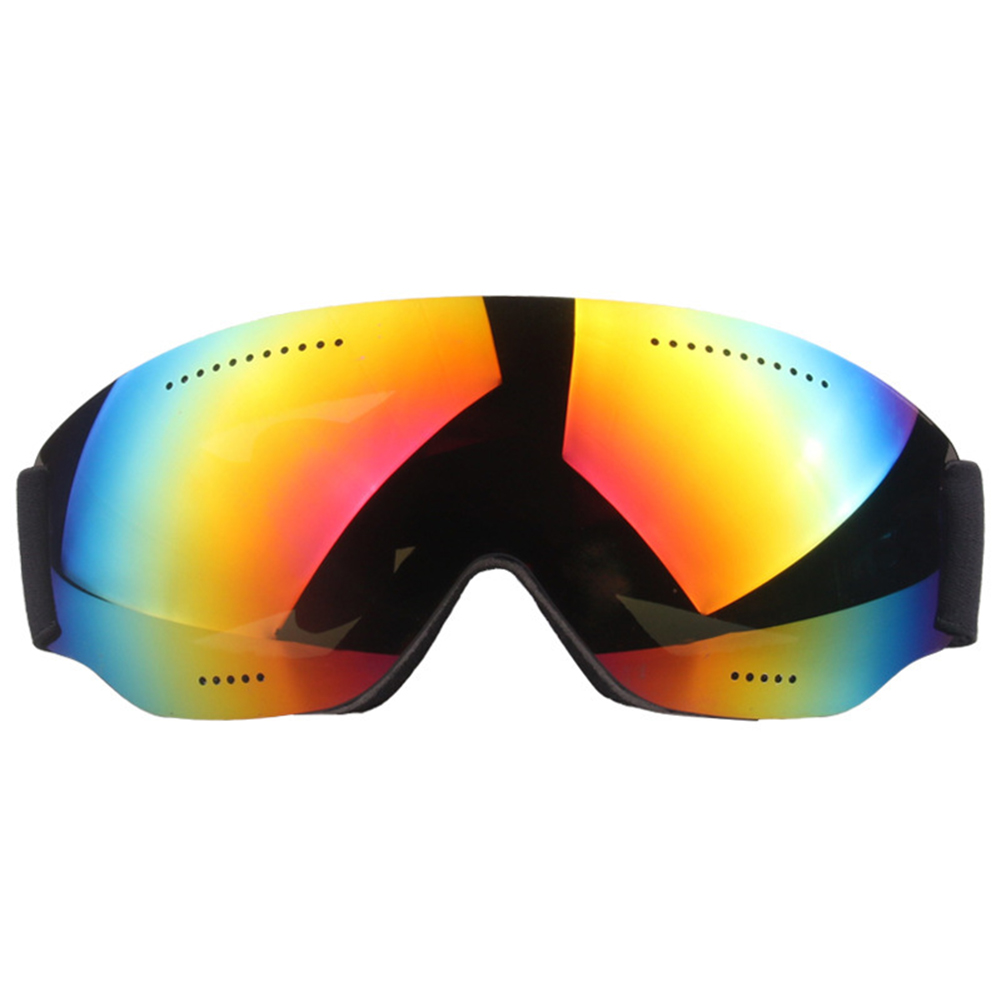 Single Layer Ski Goggles Short-sighted Snow Goggles Adult Windproof Ski Goggles Imitation red