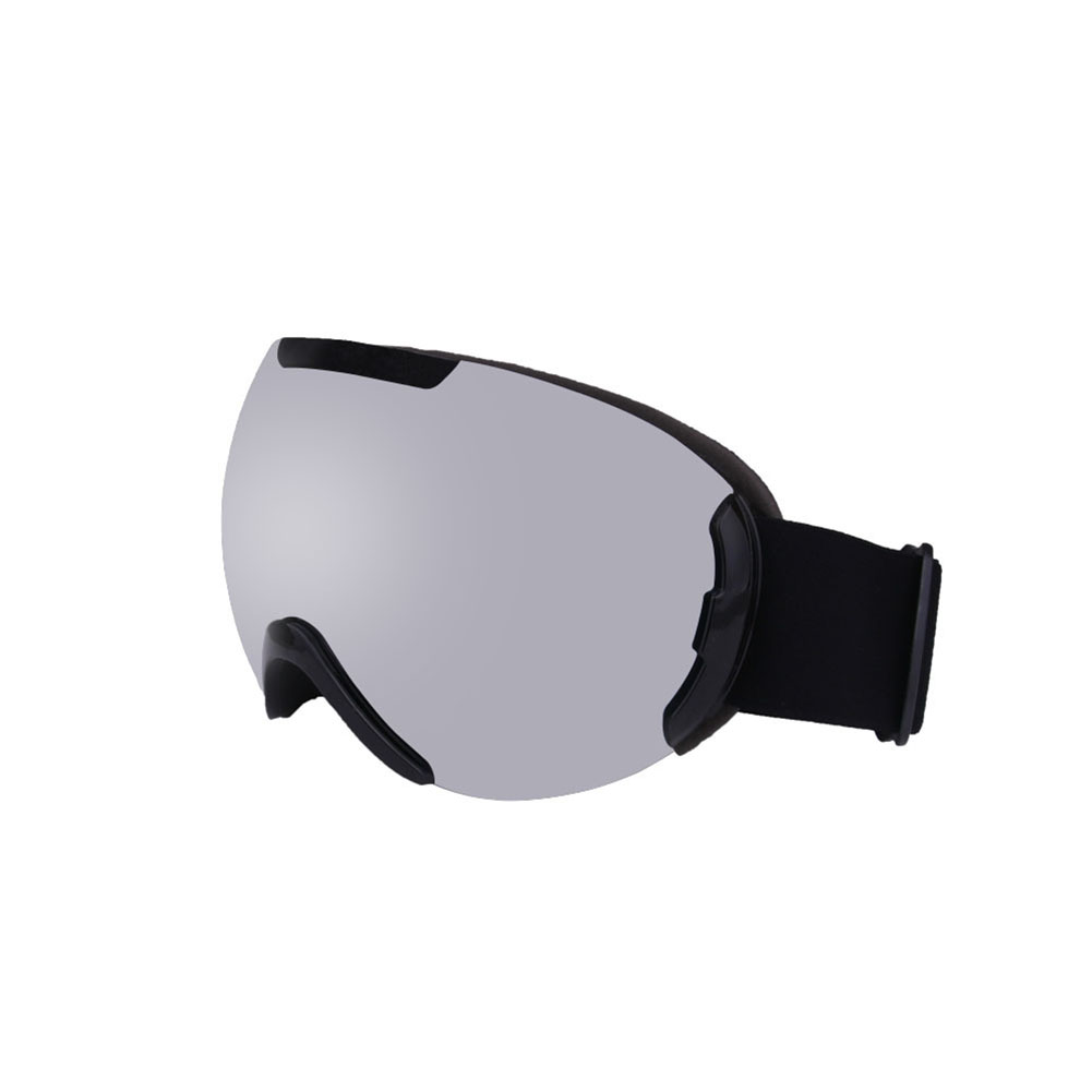 Ski Goggles with Large Spherical Double Layers Antifog Goggles Climbing Goggles for Women and Men Black frame silver