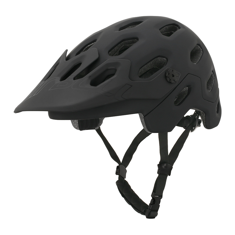 crash helmet MTB Road Cycling Helmet Ultralight Breathable Bike Riding Helmet Head Adjustable Visor Helmet black_M (54-58CM)
