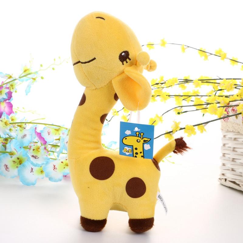 Cute Soft Animal Toy Giraffe Plush Doll Birthday Gift For kids 18cm