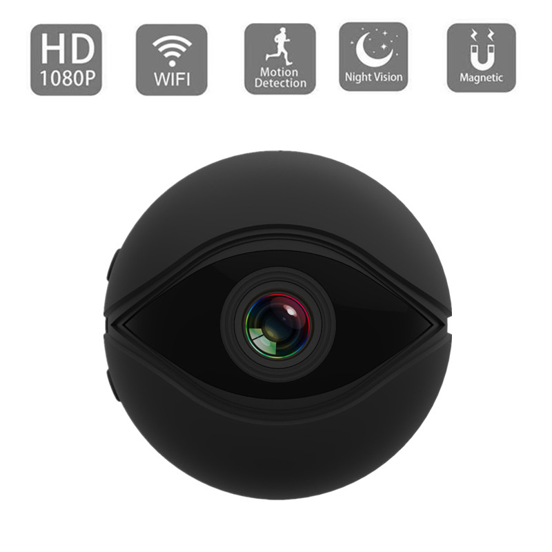 WIFI  IP Camera V2 Cloud Storage High Definition Home Security Monitor Outdoor Portable black