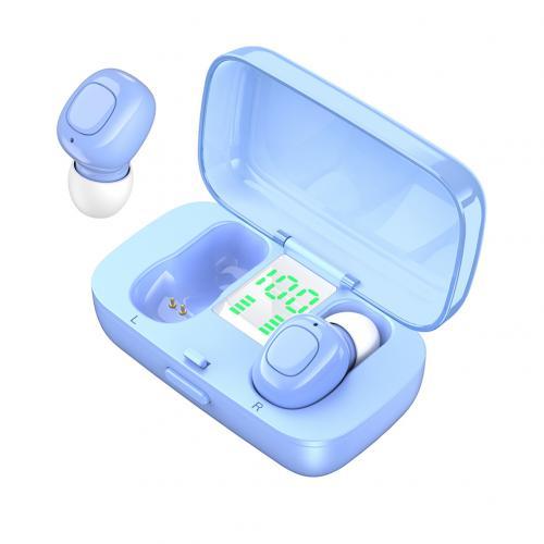XG21 Wireless Earphone Bluetooth V5.0 LED Display TWS In-ear Earbuds Sweat Resistant Sports Headphone HiFi Sound Headsets Blue