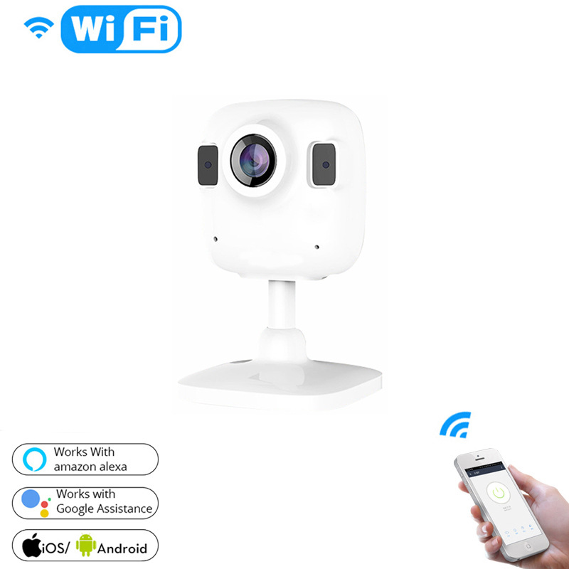 Smart Life Wireless HD 1080P IP Camera Infrared Audio Night Vision Work Remote Control white