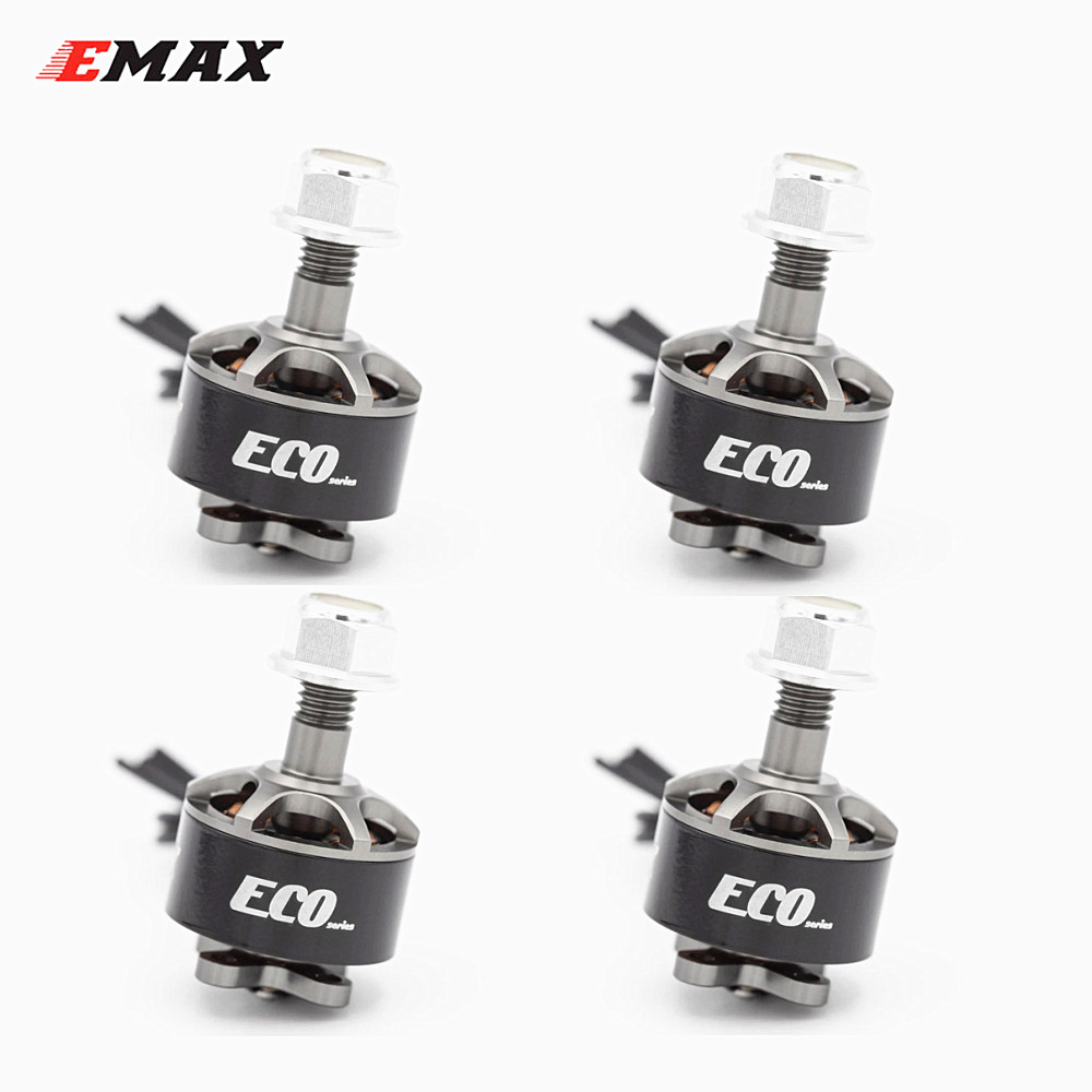 4PCS EMAX ECO Micro Series 1407 2~4S 2800KV 3300KV 4100KV Brushless Motor For FPV Racing RC Drone 2800KV