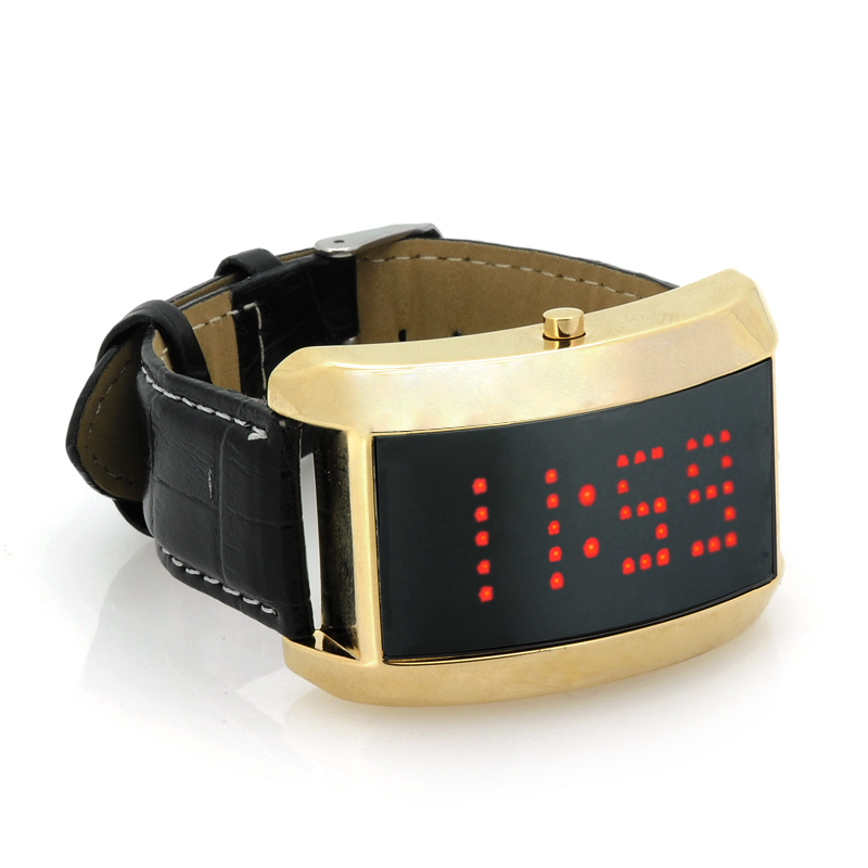 LED Watch with Scrolling Red Text - SWAG