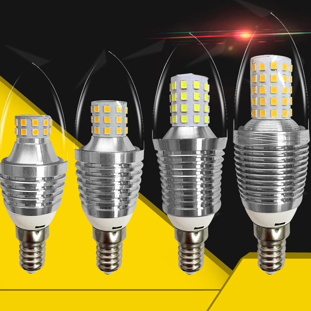 LED Candle Bulb with Double Lighting Color Home Decoration E14 85-265V