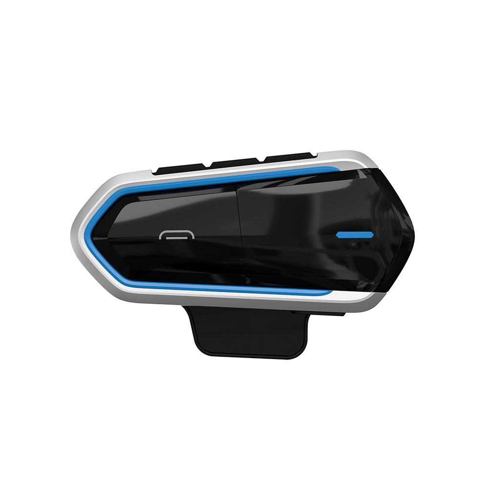 Waterproof QTB35 Motorcycle Bluetooth Helmet Headset FM Radio CSR Helmet Bluetooth Headset Blue edge