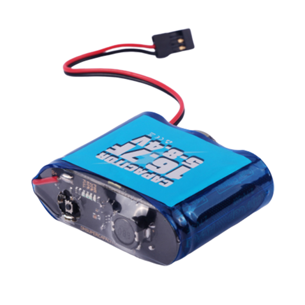 VGOOD Capacitor Power Box S1 16.7F 5-8.4V Capacitor Saver Rescue Module for RC Helicopter  blue