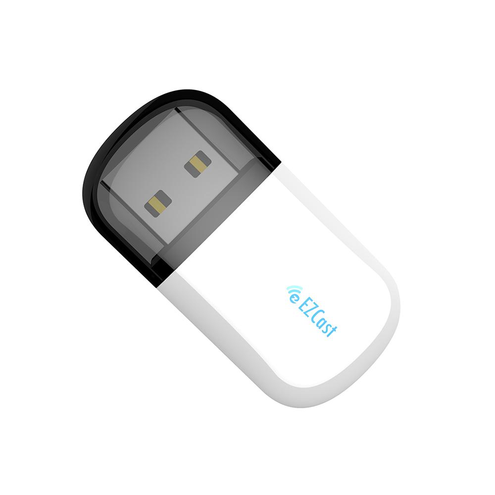 Mini Wifi Usb 650m High-speed Wireless Adapter Driver 5.8g+2.4g Bluetooth Adapter white
