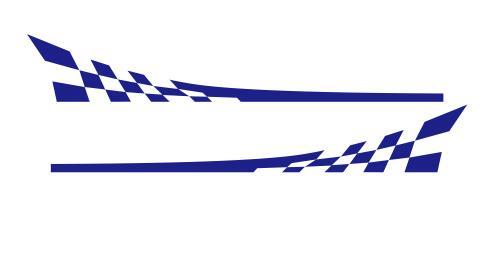 Racing Flag Vinyl Decal Car Styling Door Side Skirt Stripes Auto Body Decor Sticker blue