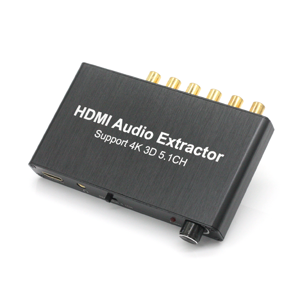 HDMI Splitter 4K Audio Decoder HDMI 5.1 Audio Decoder Dolby HDMI Repeater black