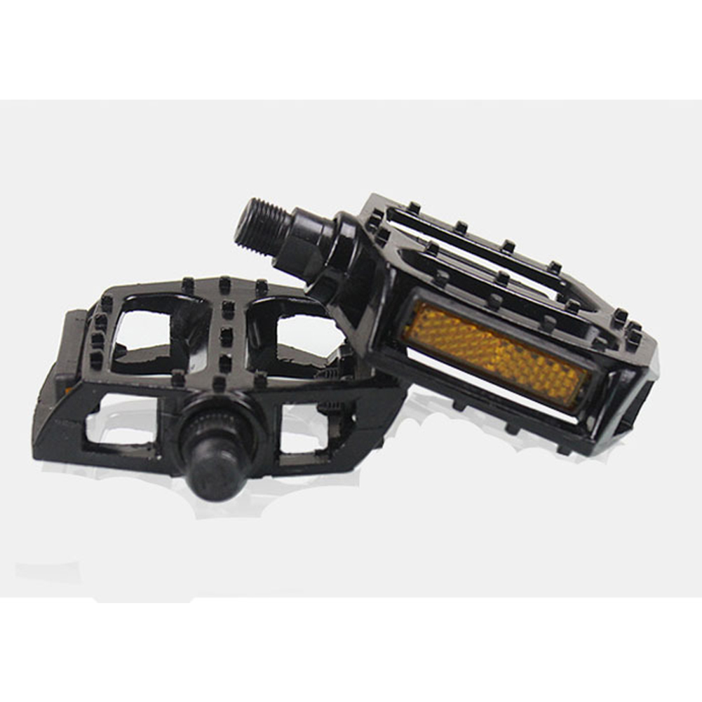 Pair Alloy Black Bicycle Mountain Bike Pedal Cycling Accessories black