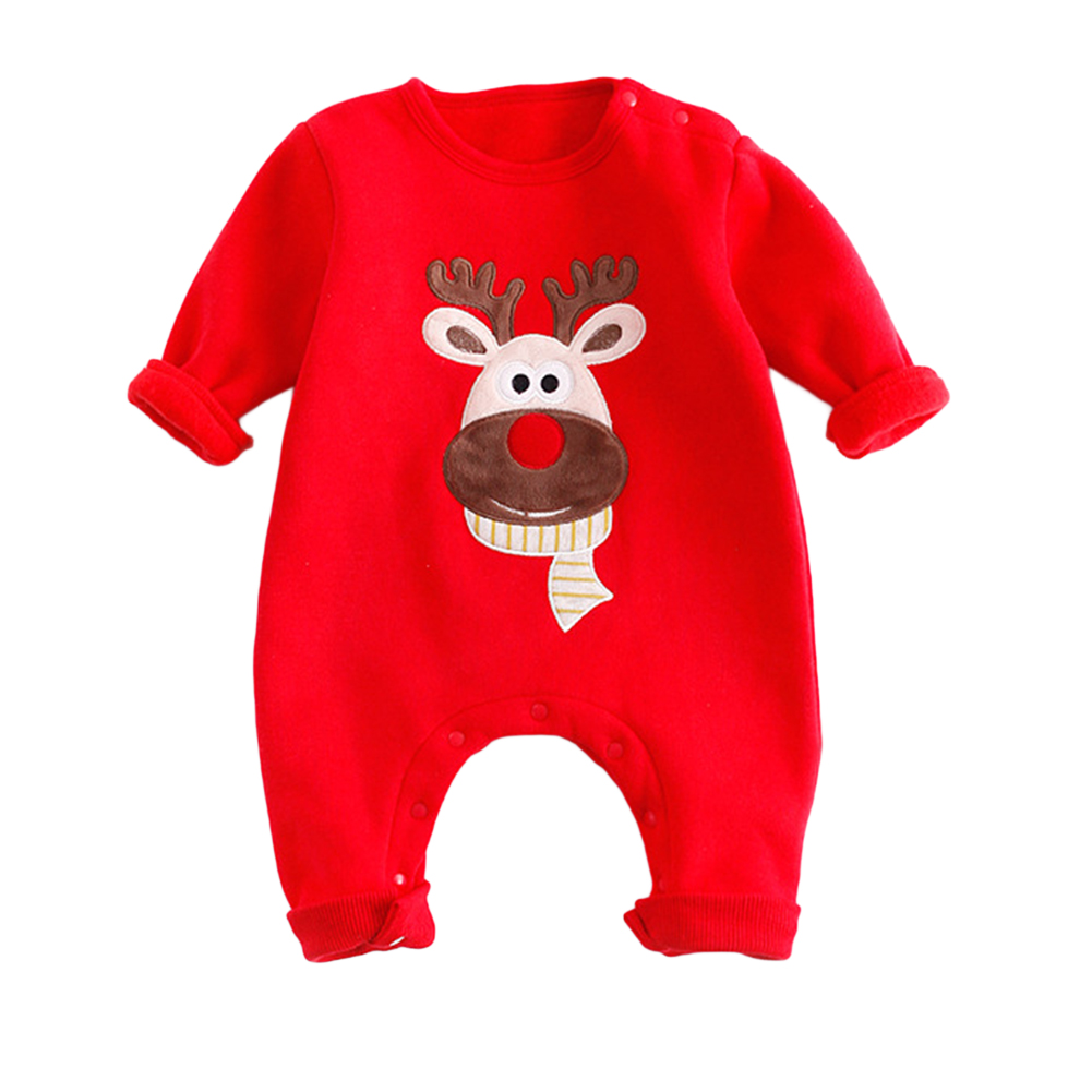 Newborn Baby Christmas One-piece Cotton Garment Rompers Jumpsuits Baby Suit Costumes as Photo Props